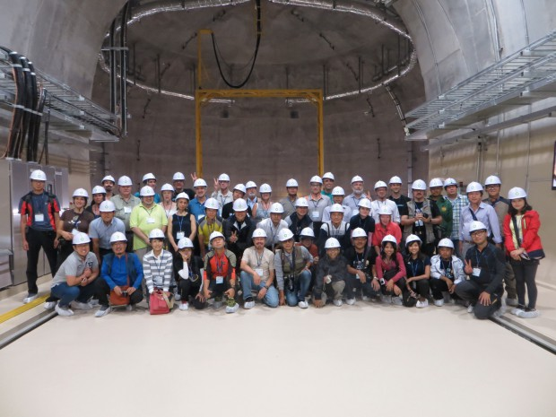 Group picture in the nuclear waste disposal site