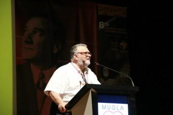 Celal Sengör during his talk