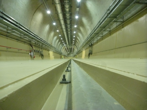 In the nuclear waste disposal site, 100 m below sea level