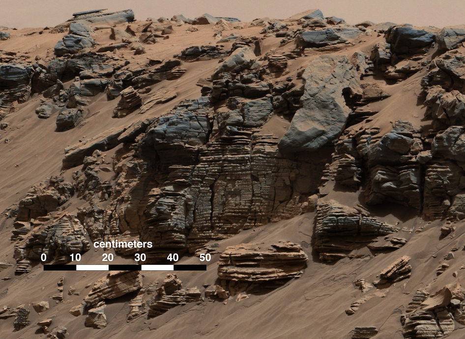 Sedimentary Signs of a Martian Lakebed