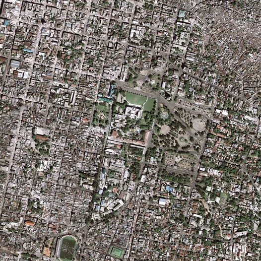 This photo is a high resolution satellite image showing the landscape and building damages after the earthquake hit Haiti. This image is part of the USGS Hazard Data Distribution System, which acquires and delivers satellite and aerial imagery in near-real time during natural or human-caused disasters.