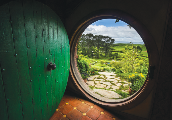 "Hobbiton, a village near Matamata, New Zealand, was created for ""The Lord of the Rings"" movies."