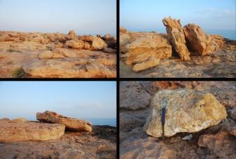 Tsunami boulder deposits in Ras al-Hadd, Oman
