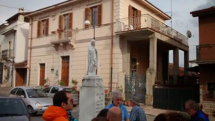 San Bendetto dei Marsi - the Madonna statues mark the ancient Fucino lake shore