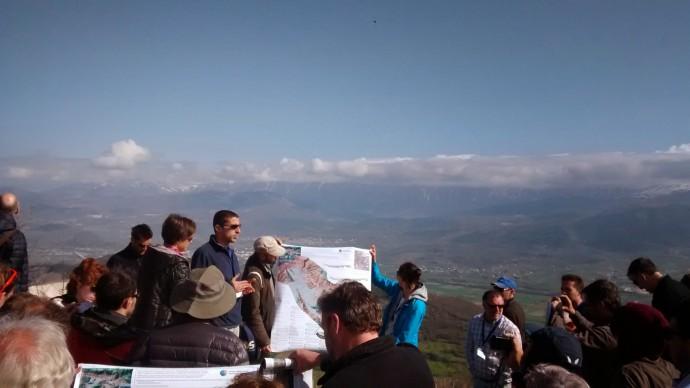 Gran Sasso range with L'Aquila in the basin