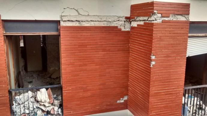 Structural damage.