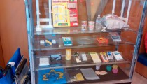 The earthquake kit - every family here has one. Neodani Fault Museum
