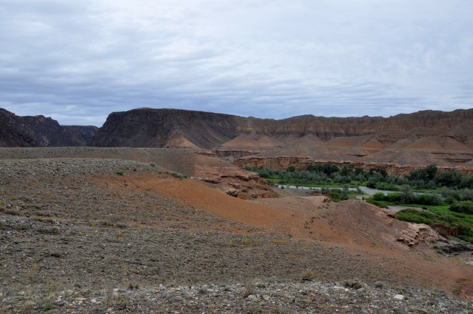 Paleozoic being pushed over Neogene and Quaternary at the Charyn Canyon.
