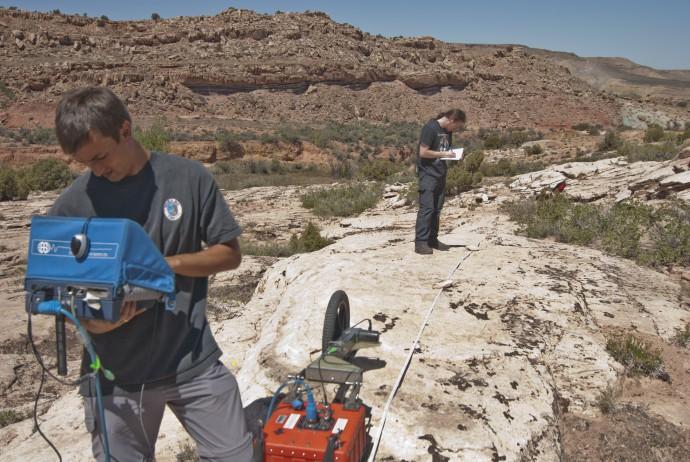 Field work in great landscape.