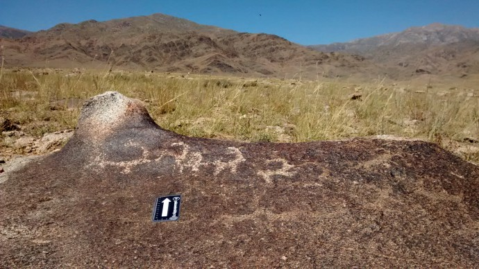 Petroglyphs, probably Bronze Age.