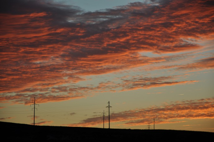The steppe has the most beautiful sunsets.