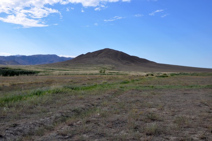 The same push-up ridge with the fault scarp.