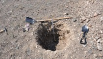 We dug about ten sampling pits like this.