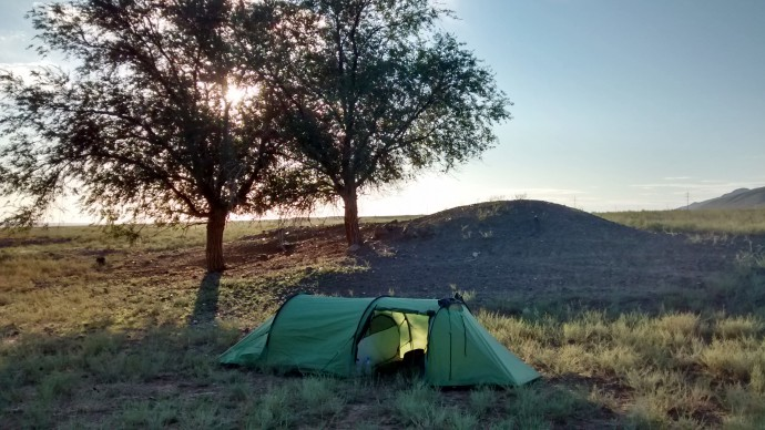 One of our camp sites.