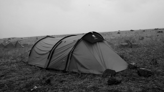 We had a serious storm which almost killed my tent.
