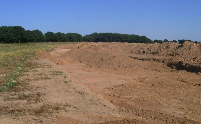 The archaeological survey that was run at the highway construction site.