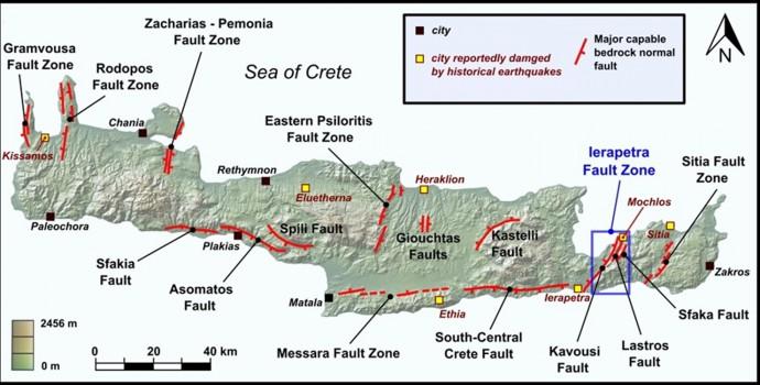 Faults of Crete