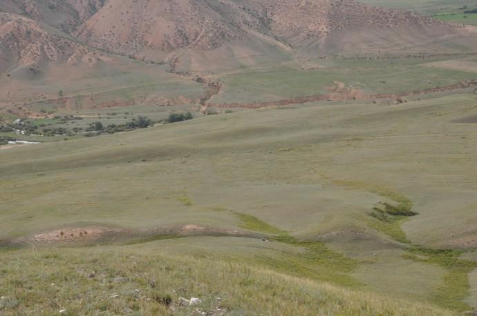 The Chilik fault near Saty.