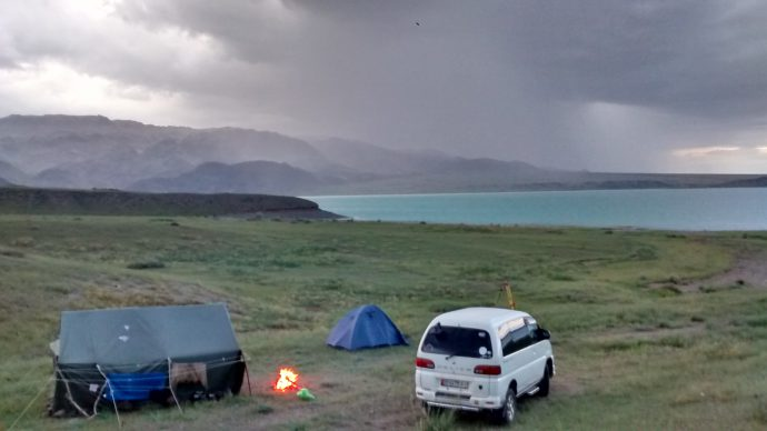 A thunderstorm approaching our camp.