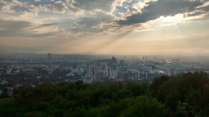 Back in Almaty, finally.