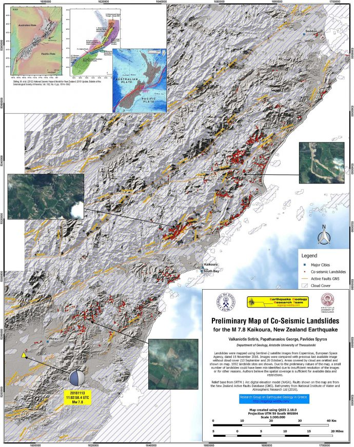 Landlside map by the Research Group on Earthquake Geology in Greece