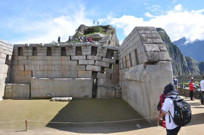 Deformed walls at Machupicchu.