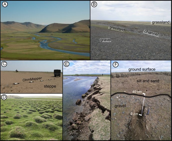 Highly variable sediment distribution, different landscape features.
