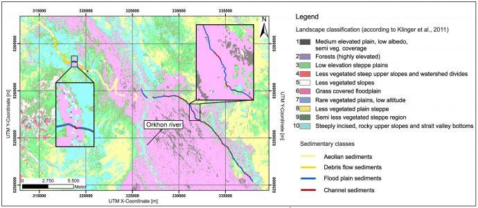 Comparison of our results with the landscape classification of Klinger et al. (2011).